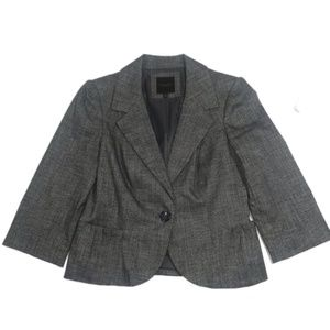 Single Button Gray Blazer Small The Limited